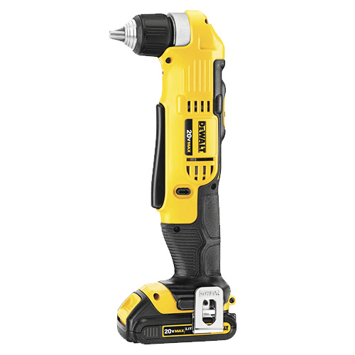 DEWALT 20V MAX Right Angle Cordless Drill/Driver Kit (DCD740C1)