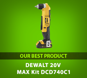 DEWALT 20V MAX Right Angle Cordless Drill/Driver Kit (DCD740C1) - Our Best Product